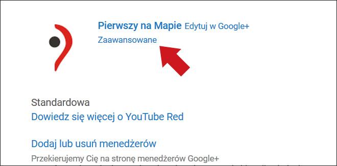 Kanał YouTube - podłączenie do wizytówki Google - krok 3