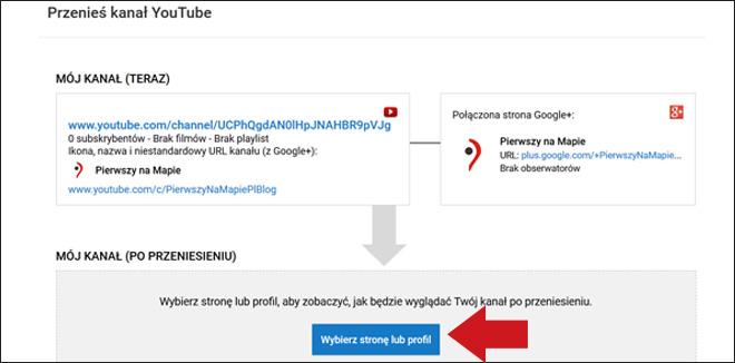 Kanał YouTube - podłączenie do wizytówki Google - krok 6