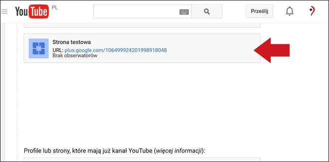 Kanał YouTube - podłączenie do wizytówki Google - krok 7
