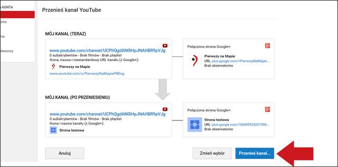 Kanał YouTube - podłączenie do wizytówki Google - krok 8