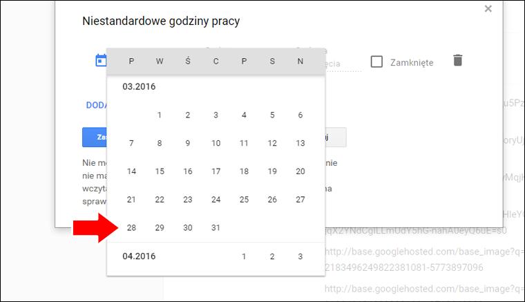 Jak ustawić niestandardowe godziny pracy w Google Moja Firma - poradnik - krok 7