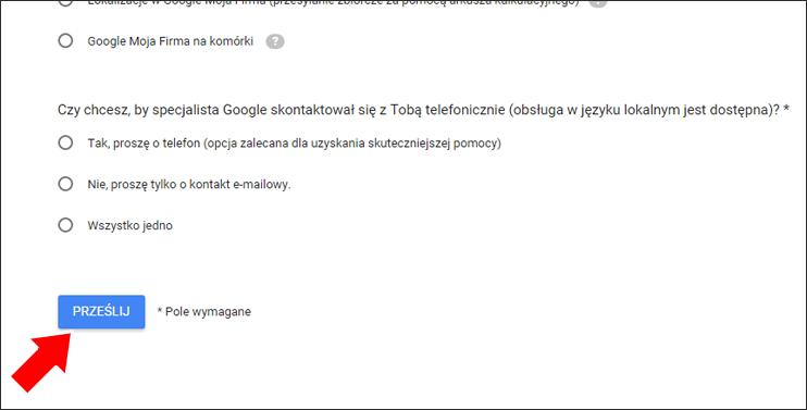 Jak usunąć opinie Google z wizytówki - Krok 3 - Poradnik