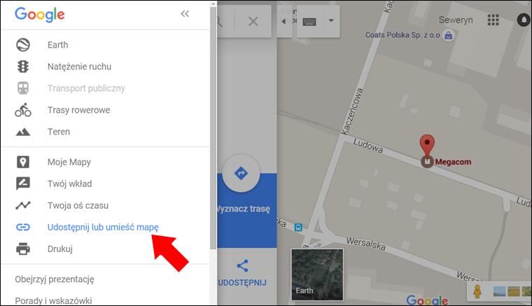 Jak zamieścić Mape Google na stronę internetową - krok 3 - Poradnik