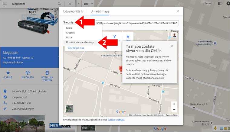 Jak zamieścić Mape Google na stronę internetową - krok 5 - Poradnik