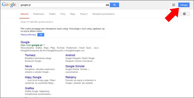 Jak założyć konto Google krok 1 - poradnik