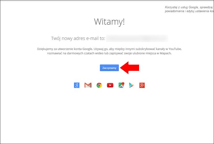 Jak założyć konto Google krok 12 - poradnik