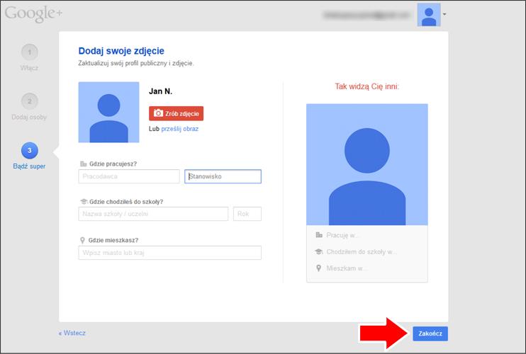 Jak założyć konto Google krok 17 - poradnik