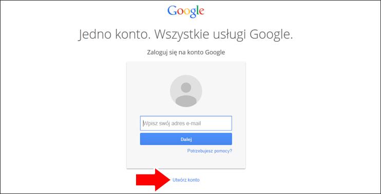 Jak założyć konto Google krok 2 - poradnik