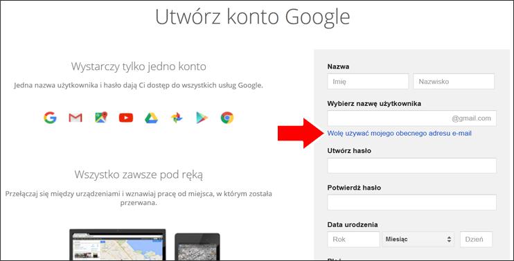 Jak założyć konto Google krok 3 - poradnik