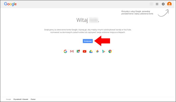 Jak założyć konto Google krok 8 - poradnik