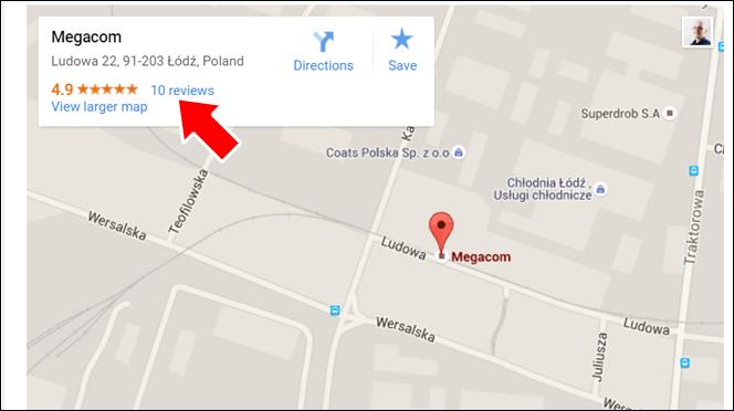 Opinie o firmie i wskazówki dojazdu - zalety mapki Google na stronie internetowej