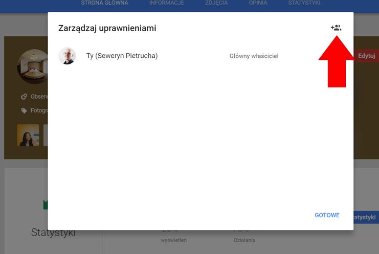Dodaj użytkowników do konta Google Moja Firma
