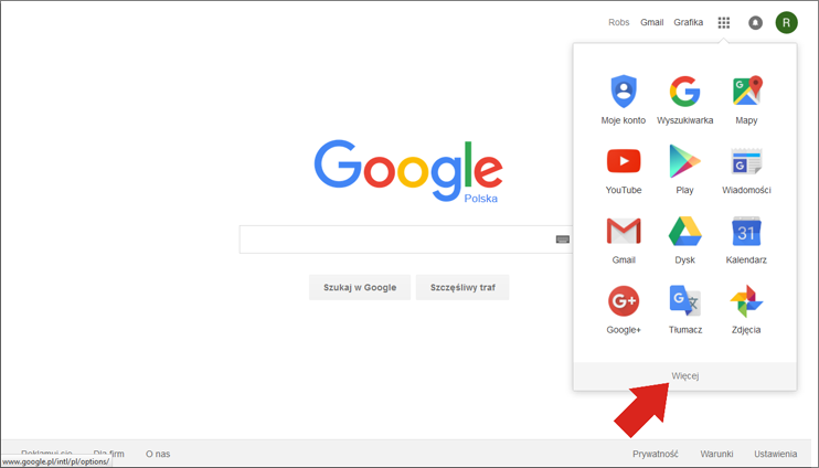 Więcej aplikacji Google