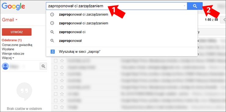 Wyszukiwarka poczty Gmail