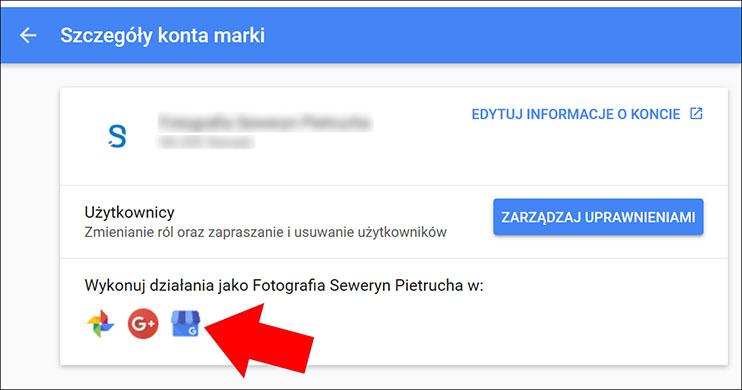 Zarządzaj w Google Moja Firma