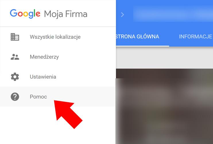 Wizytówka Google Moja Firma - Pomoc