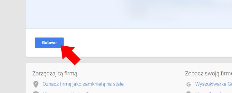 Wizytówka Google Moja Firma - Zatwierdzenie zmian