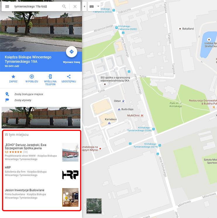 Wizytówki w Mapach Google