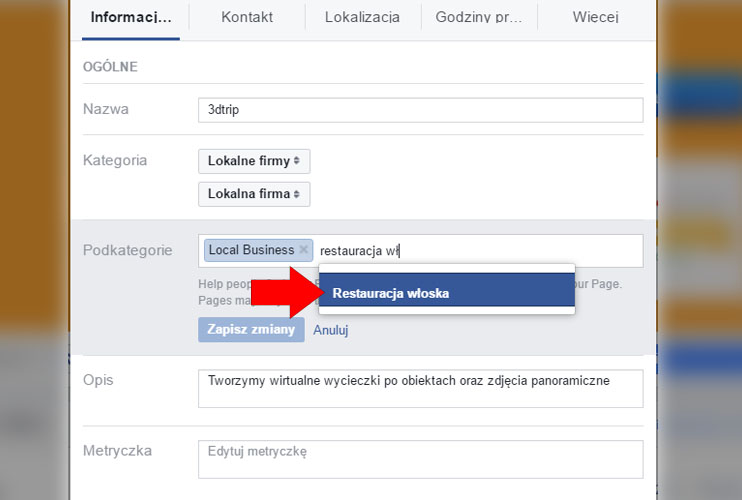Kategoria - fanpage na Facebooku