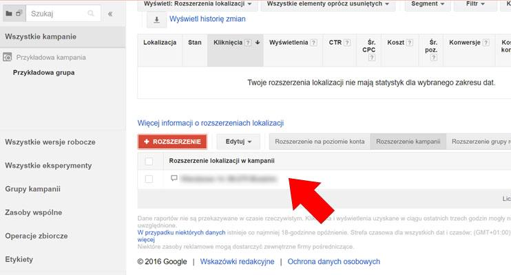 Potwierdzenie połączenia AdWords i wizytówki Google