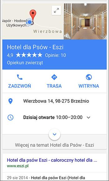 Zdjęcie profilowe wizytówki Google - Google Now