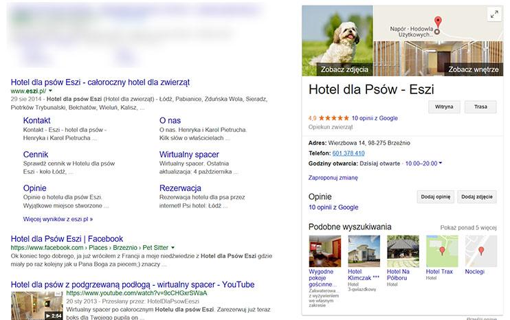 Zdjęcie profilowe - graf wiedzy wizytówki Google