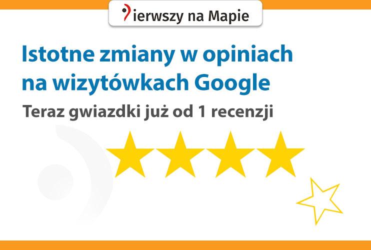 Zmiany w opiniach Google - grafika na okładkę