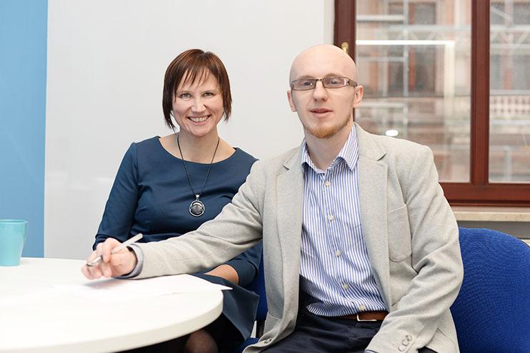 Marta Haczkowska i Seweryn Pietrucha na zdjęciu