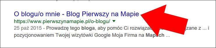 Tytuł strony w wyszukiwarce Google
