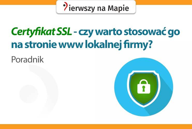 Certyfikat SSL - grafika okładkowa