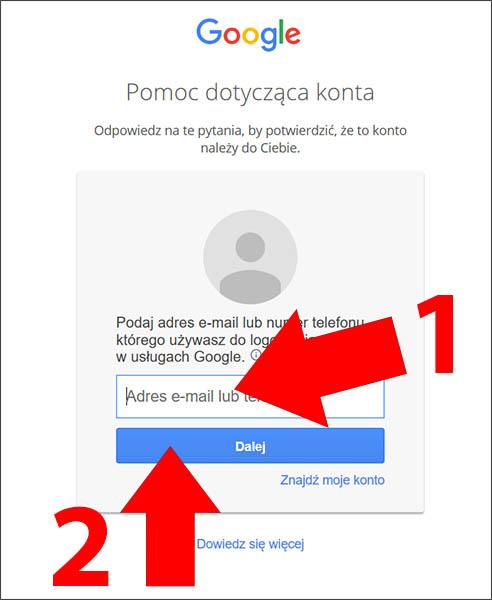 Wpisz adres Gmail