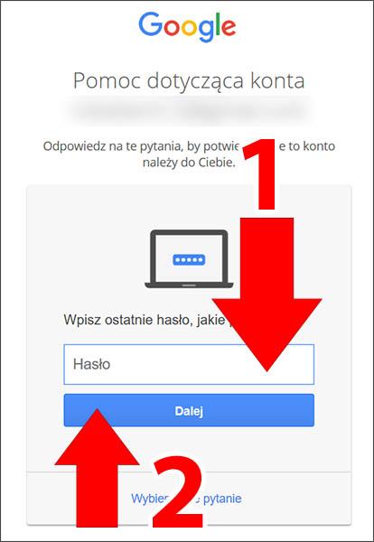 Wpisz hasło Google