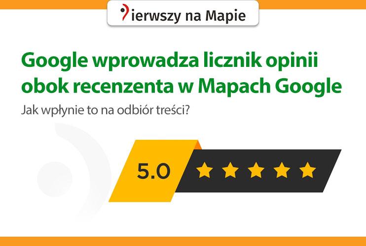 Licznik opinii Google recenzenta