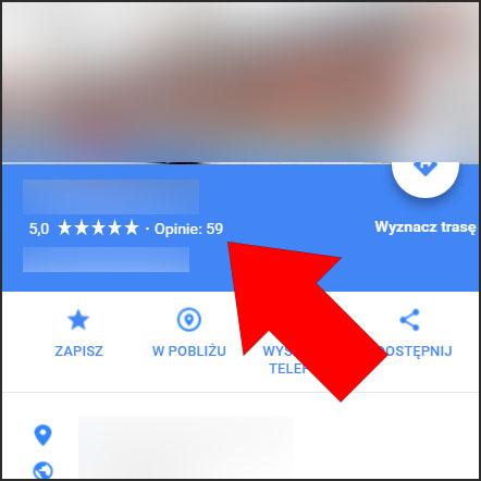 Opinie w Mapach Google