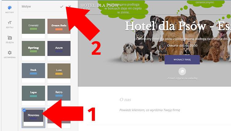 Motywy strony Google Moja Firma