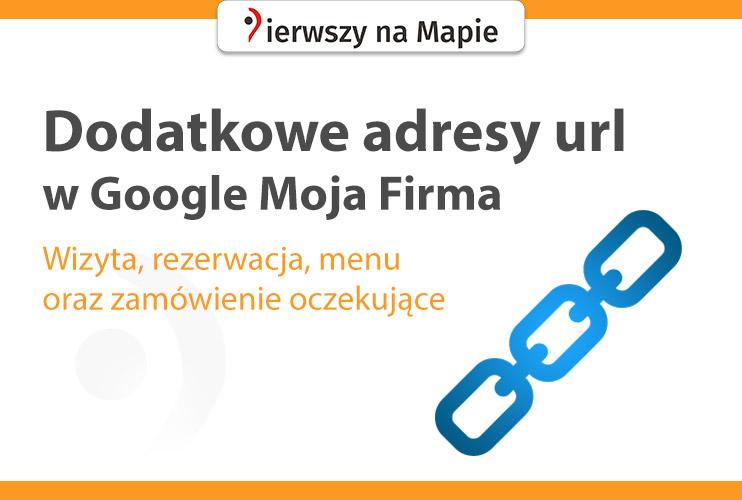 Dodatkowe linki na wizytówce Google