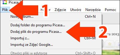 Picasa 3 - dodawanie zdjęć