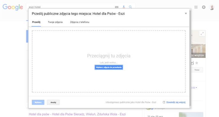 Dodawanie zdjęcia - Wizytówka Google