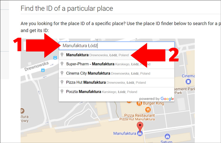 Google Maps Place ID