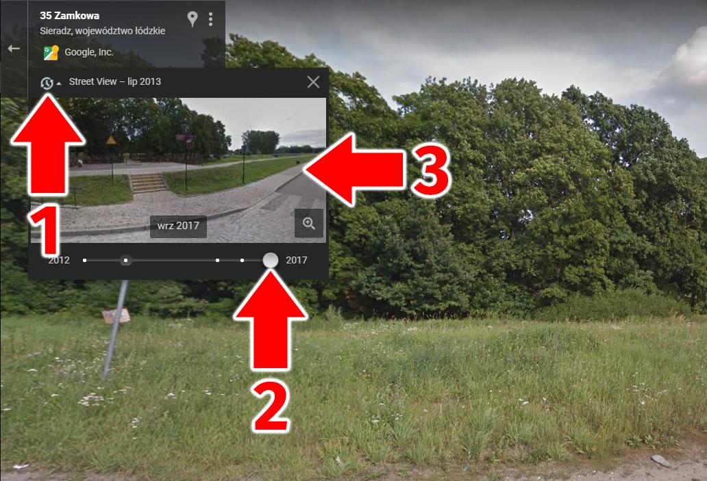 Google Street View podróż w czasie