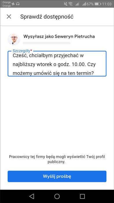 """Przycisk """"POPROŚ O WYCENĘ"""" na wizytówce Google - tworzeni"""